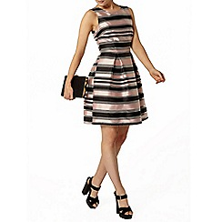 Dorothy Perkins - Luxe pink stripe organza dress