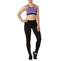Dorothy Perkins - Active: pink & purple colour block aerobic bra