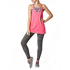 Dorothy Perkins - Active:2 in 1 fluro pink loose racer back vest top