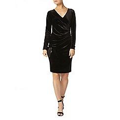 Dorothy Perkins - Billie black label black long sleeve velour dress