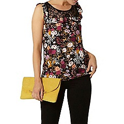 Dorothy Perkins - Billie and blossom dark floral lace insert shell top