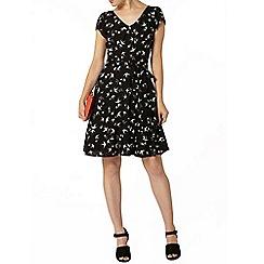 Dorothy Perkins - Billie and blossom black swallow print dress