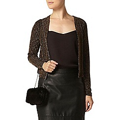 Dorothy Perkins - Billie black label black and gold diamond shrug