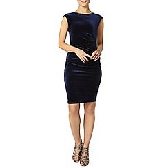 Dorothy Perkins - Billie black label navy velour bodycon dress