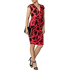 Dorothy Perkins - Billie black label: pink and black floral jersey tulip dress