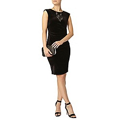 Dorothy Perkins - Billie black label black velour bodycon dress