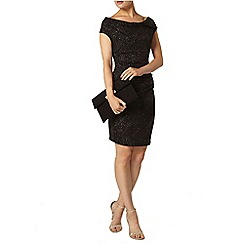 Dorothy Perkins - Billie black label gold glitter mini cowl dress