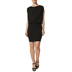 Dorothy Perkins - Billie black label black glitter batwing dress