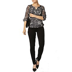 Dorothy Perkins - Billie black label silver snake bubble hem top