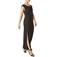 Dorothy Perkins - Billie black label gold cowl neck maxi dress