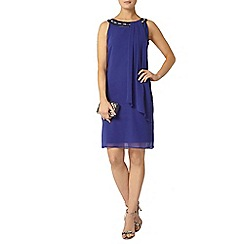 Dorothy Perkins - Billie black label cobalt embellished trapeze dress