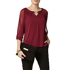 Dorothy Perkins - Mulberry trim blouse