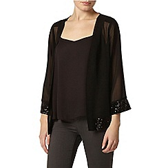 Dorothy Perkins - Billie black label: black kimono with sequin cuff