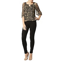 Dorothy Perkins - Billie black label gold snake bubble hem blouse