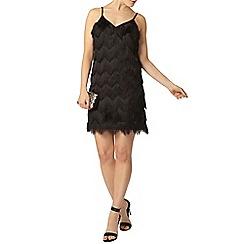 Dorothy Perkins - Luxe black tassel dress