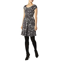 Dorothy Perkins - Billie black label silver snake flippy dress
