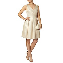 Dorothy Perkins - Luxe gold shimmer pleat dress