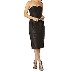 Dorothy Perkins - Luxe black spot bandeau dress