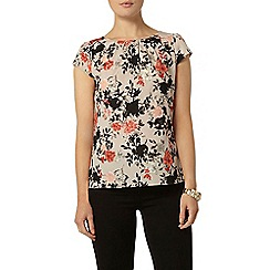 Dorothy Perkins - Billie and blossom beige floral shell top