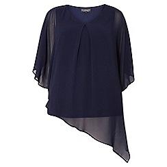Dorothy Perkins - Billie and blossom navy chiffon overlay blouse