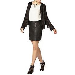 Dorothy Perkins - Luxe black tassel jacket
