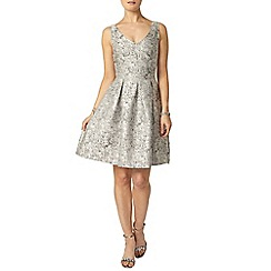 Dorothy Perkins - Luxe silver jacquard dress