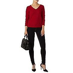 Dorothy Perkins - Billie and blossom red v neck sequin jumper