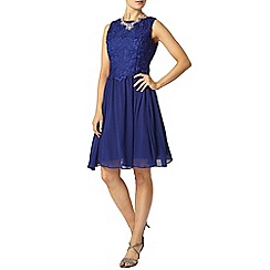 Dorothy Perkins - Showcase cobalt lace prom dress