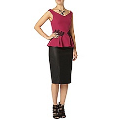 Dorothy Perkins - Showcase magenta bardot top