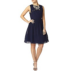 Dorothy Perkins - Showcase navy lace insert prom dress