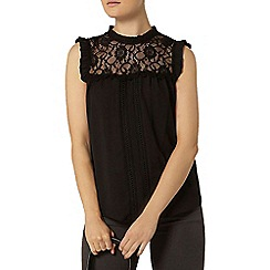 Dorothy Perkins - Billie and blossom: black victoriana lace shell top