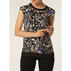 Dorothy Perkins - Gold woodland trim shell top