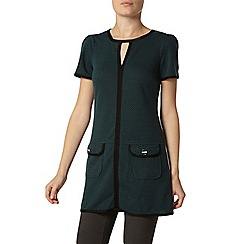 Dorothy Perkins - Bille and blossom forest green jacquard tunic