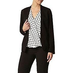 Dorothy Perkins - Billie petites: winter white and navy spot wrap blouse