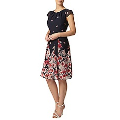 Dorothy Perkins - Billie petites navy floral border dress