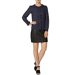 Dorothy Perkins - Billie and blossom feather peter pan collar blouse