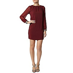 Dorothy Perkins - Billie black label mulberry gem trim dress