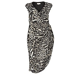 Dorothy Perkins - Billie curve animal ruched side dress
