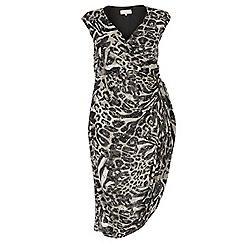 Dorothy Perkins - Billie curve animal ruched side dress