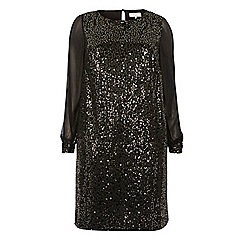 Dorothy Perkins - Billie curve black sequin shift dress