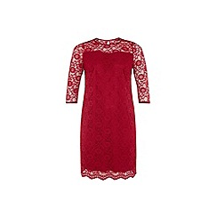 Dorothy Perkins - Bille curve red sweetheart lace dress