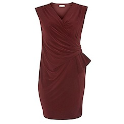 Dorothy Perkins - Billie curve burgundy manipulated dress