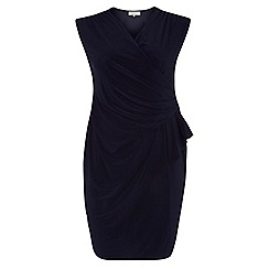 Dorothy Perkins - Billie curve navy ruch side dress