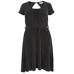 Dorothy Perkins - Billie curve black sparkly prom dress