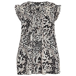 Dorothy Perkins - Billie curve animal frill sleeve top