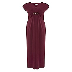 Dorothy Perkins - Billie curve magenta embellished maxi dress