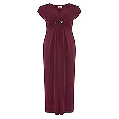 Dorothy Perkins - Billie curve magenta embellished maxi dress