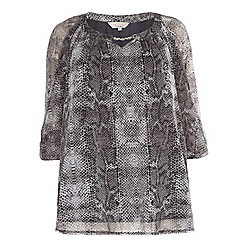 Dorothy Perkins - Billie curve silver snake bubble hem top