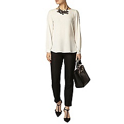 Dorothy Perkins - Luxe: cream long sleeve blouse
