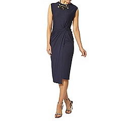 Dorothy Perkins - Billie and blossom navy sleeveless manipulated dress